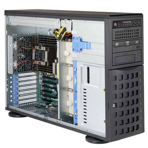 "VMware Certified - Supermicro SYS-7049P-TR Dual Intel Xeon Scalable Tower 4U Rackmount w/ 8 x 3.5"" Drive Bays"