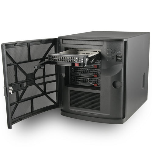 "MITXPC Network Access Server (NAS) Solution - 4 x 3.5"" Drive Bay, Quad GbE LAN, Mini Tower with FreeNAS Software"