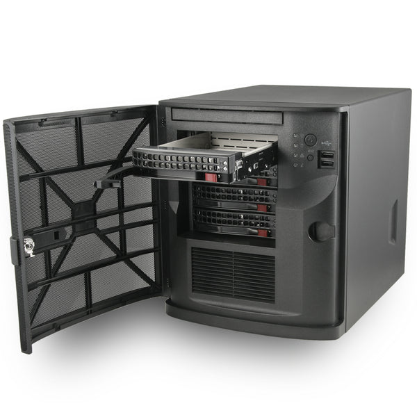 "MITXPC Software Defined Storage Solution - 4 x 3.5"" Drive Bay, Quad GbE LAN, Mini Tower, FreeNAS"