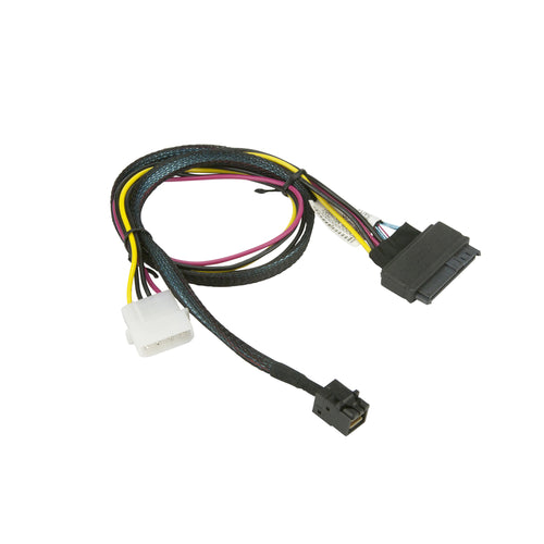 Supermicro CBL-SAST-0957 MiniSAS HD to U.2 with 4-Pin Power Connector Cable