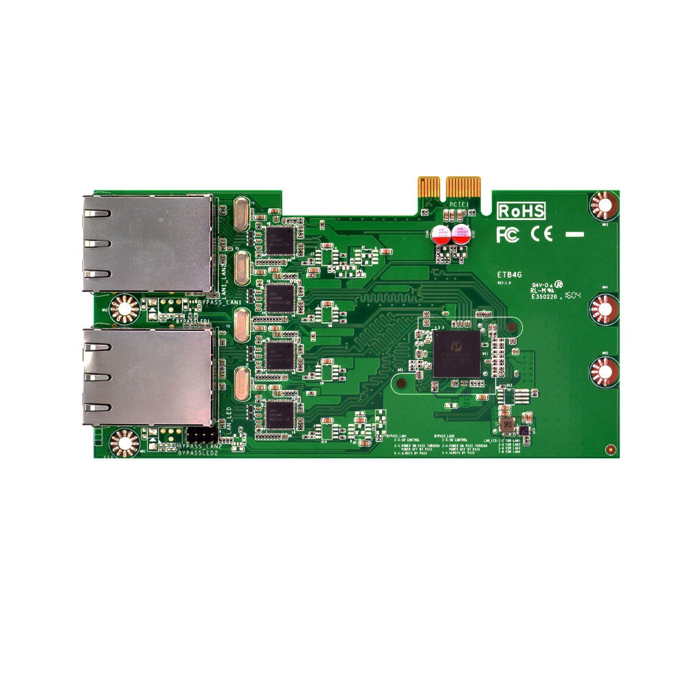 Jetway ETB4G 4 x Intel GbE LAN PCI-E x1 Side Port Expansion Module
