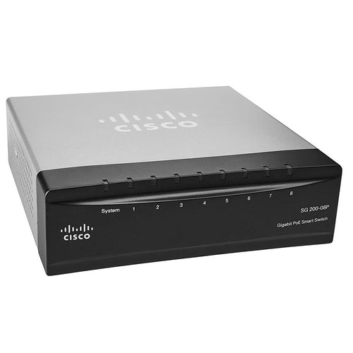 Cisco SG200-08P Smart Switch with 4 GbE, 4 PoE Ports