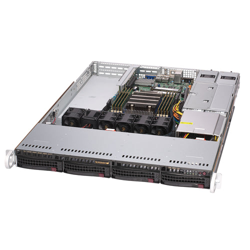 "Supermicro AS-1014S-WTRT AMD EPYC 7002 1U Server, 2x 10GBase-T, PCI-E 4.0, 4x 3.5"" Bays"