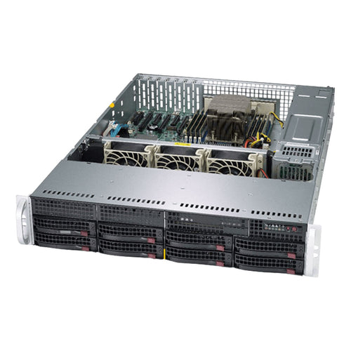 "Supermicro AS-2013S-C0R AMD EPYC 2U Rackmount, 8 x SATA/SAS 3.5"" Drive Bays, 6 x Low Profile PCI-E slots"
