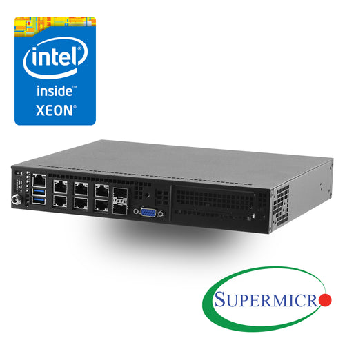 Supermicro SYS-E300-8D Intel Xeon D-1518, Dual 10G SFP+, 6 GbE LAN, Mini Server