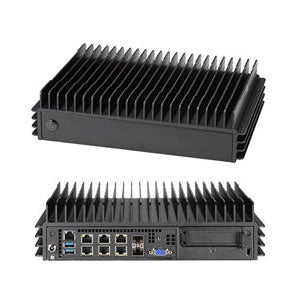 Supermicro SYS-E302-9D Fanless Embedded Mini PC, Xeon D-2123IT Quad Core, 4 x GbE LAN, 2 x SFP+, 2 x 10GBase-T