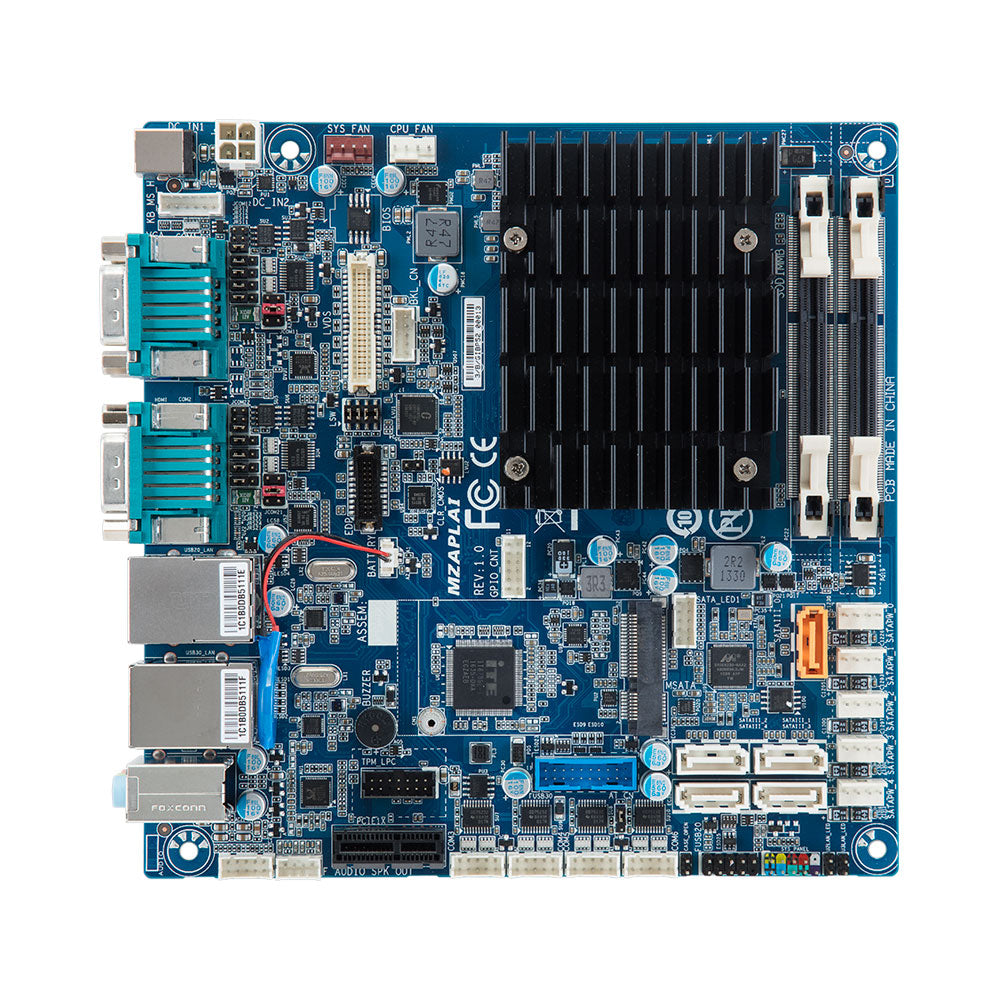 GigaIPC Pentium J4205 Quad Core Fanless Mini-ITX Motherboard with Marvell  SATA Controller with RAID & Dual LAN