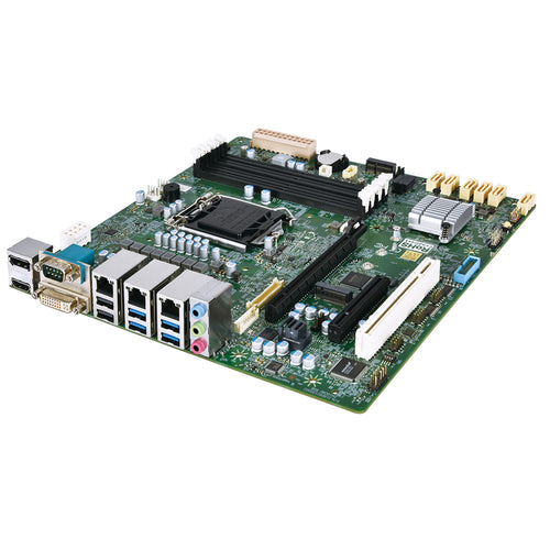 Mitac PH10CMU-Q470-3 10th Gen Comet Lake Industrial Micro ATX Motherboard, 3 LAN, vPro Support