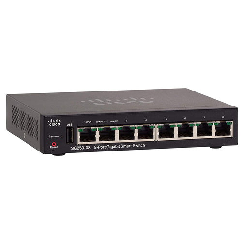 Cisco SG250-08 Smart Switch with 8 GbE Ports