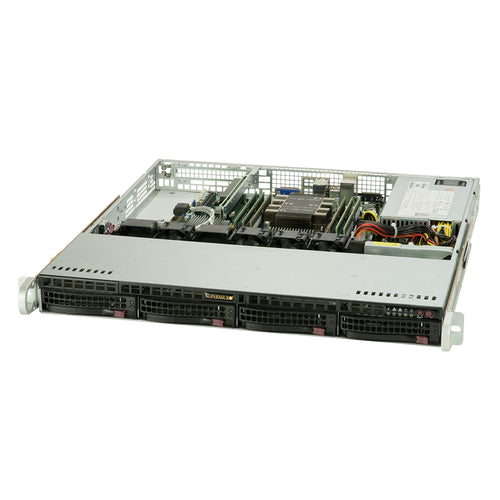 "Supermicro SYS-5019P-M Single Xeon Scalable 1U Server, 2x Marvell GbE LAN, 4x 3.5"" Drive Bays"