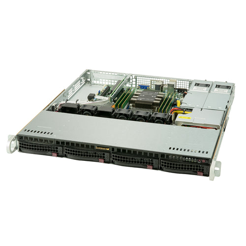 Supermicro SYS-5019P-MR Xeon Scalable 1U Server, 2x Marvell GbE, Redundant PS