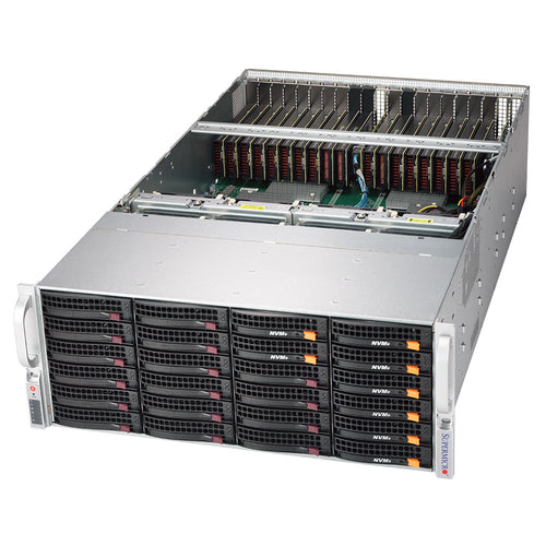 Supermicro 6049GP-TRT Dual Intel Xeon Scalable 4U Rackmount GPU Server, 20 x GPU slots