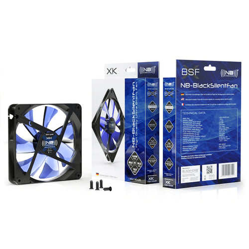 Noiseblocker BlackSilentFan Series 140mm Silent Classic Design Fan - NB-BlackSilentFan XK-2