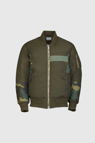 Benway Reversible Bomber - Olive