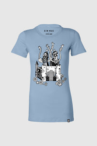 Crash Into Me Women's Tee - Baby Blue