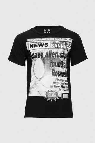 Roswell News Tee - Black