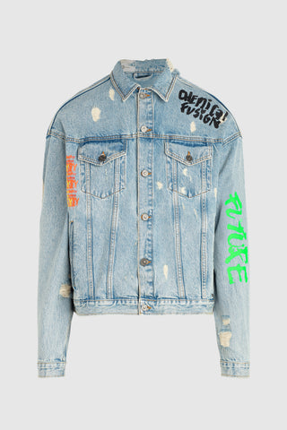 Tigha X Dim Mak Painted Denim Jacket