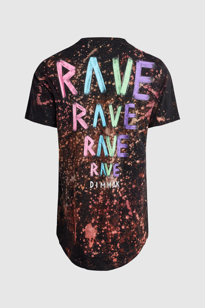 DMMK Rave High Low Black Swirl Tee #45
