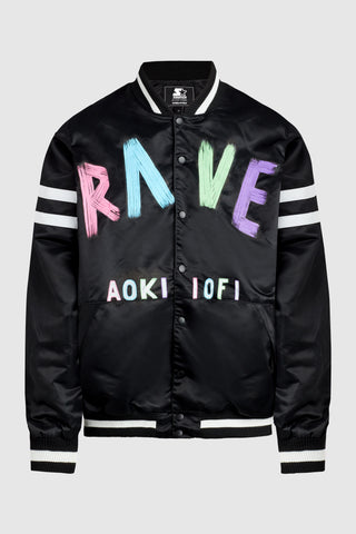Aoki Rave Satin Baseball Bomber Jacket #48