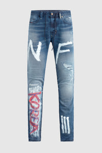 """Korea Tour"" - Hand Painted Jeans by Steve Aoki #5"