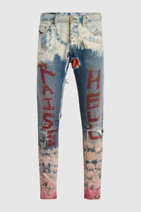 Raise Hell DMMK Bleached Jeans #34