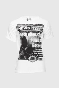 Roswell News Tee - White