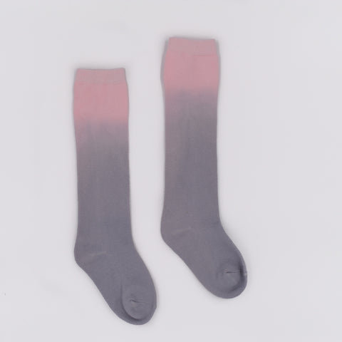 Pink elephant two-tone ombre socks