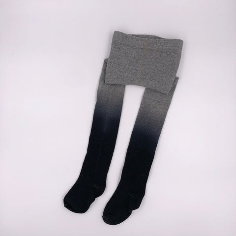 Grey to black ombré tights