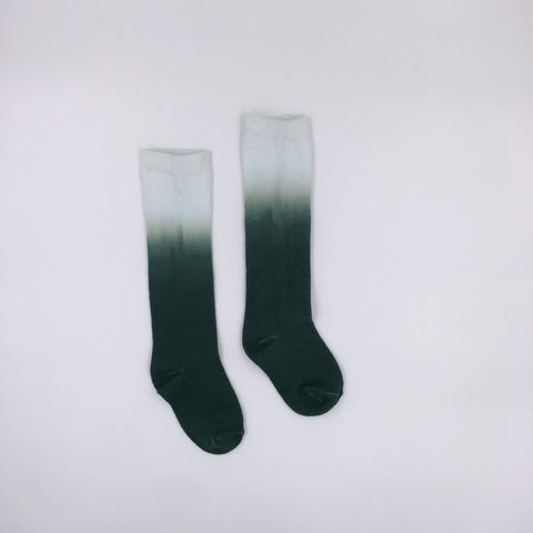 Emerald ombré socks
