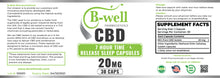 20mg CBD Time Release Sleep Capsules (30 Count)