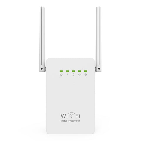 N300 300Mbps WiFi Repeater Network Range Extender Booster Single Increase Dual External Antennas