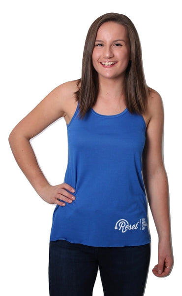 Adult Women's Reset Tank Top - Blue