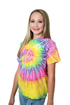 Youth and Adult Reset T-Shirt - Tie Dye Pastel
