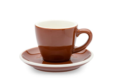 6 x BROWN 3oz Cup & Saucer