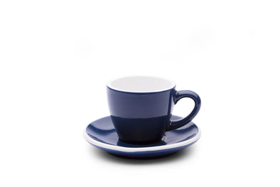 6 x MIDNIGHT BLUE 3oz Cup & Saucer
