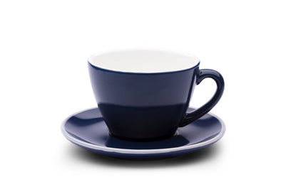 6 x MIDNIGHT BLUE 10oz Cup & Saucer