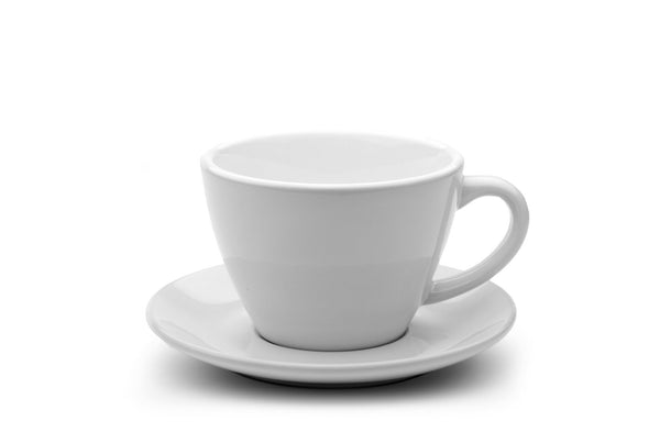 WHITE 10oz Cup & Saucer $5.83