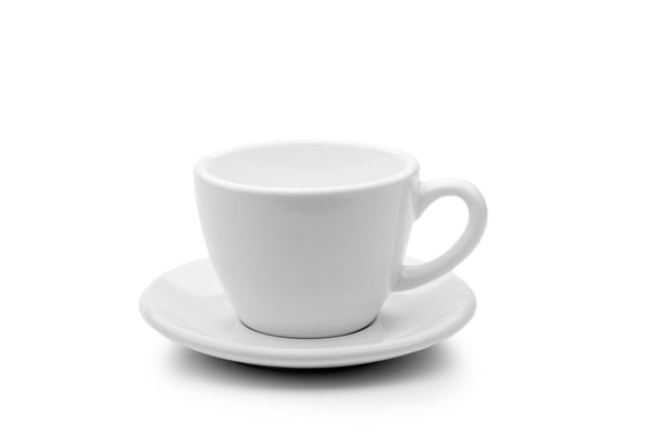 6 x WHITE 6oz Cup & Saucer