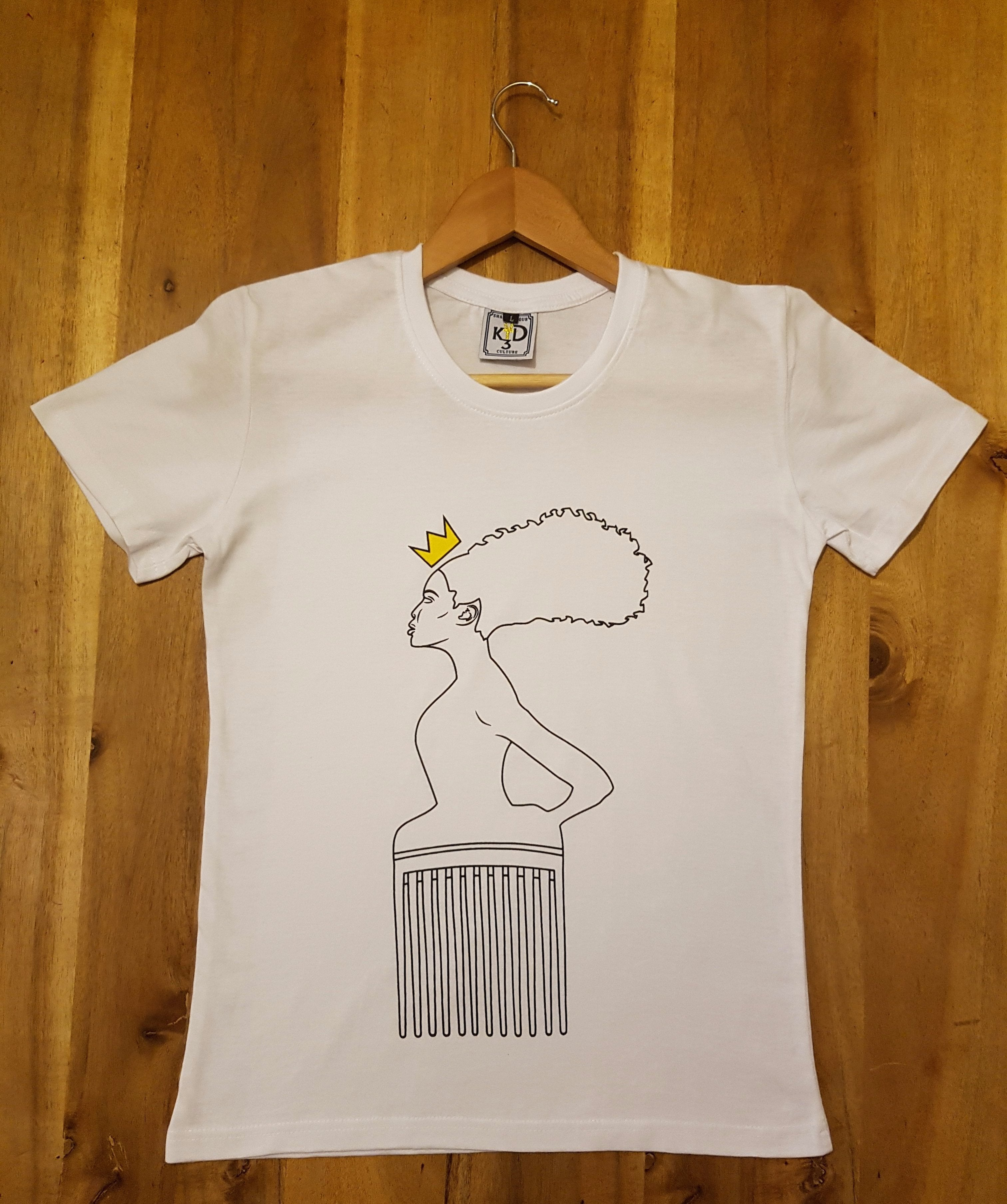 Womens| Goddess Maat Outline Silhouette - White Tee