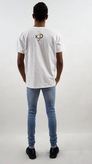 Mens| Goddess Maat Full Silhouette - White Tee