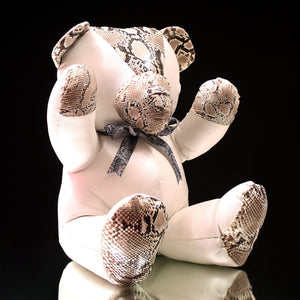 "Leather & Python Teddy Bear (16"")"