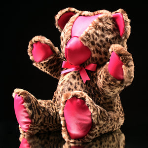 "Rabbit & Leather Teddy Bear (16"")"