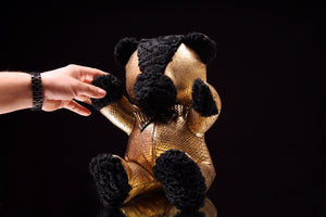 "Leather & Fur Teddy Bear (12"")"