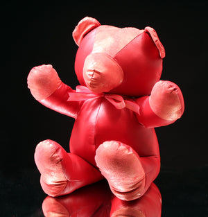 "All Leather Teddy Bear (16"")"