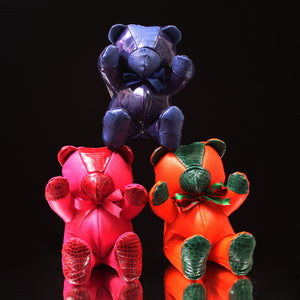 "Leather & Alligator Teddy Bear (12"")"