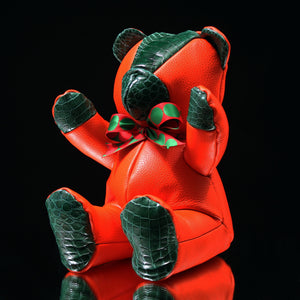 "Leather & Alligator Teddy Bear(16"")"