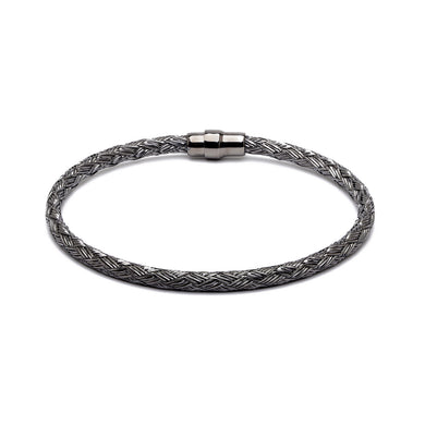 Durrah Jewelry Graphite Woven Bracelet For Him