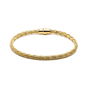 Durrah Jewelry Gold Woven Bracelet For Her