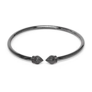 Durrah Jewelry Graphite Cylinder Bangle