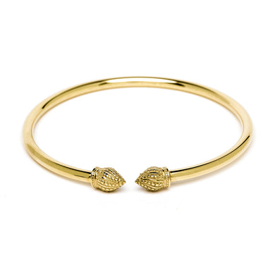 Durrah Jewelry Gold Cylinder Bangle